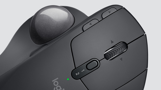 Mouse Logitech MX Ergo Wireless Trackball, Bluetooth, rech., graphite