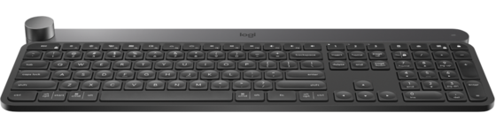Keyboard Craft Advanced Wireless with creative input dial, Logitech, SLO g.