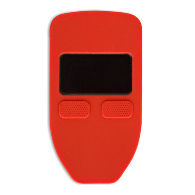 Cover CVER silicone protective case for Trezor one wallet, red