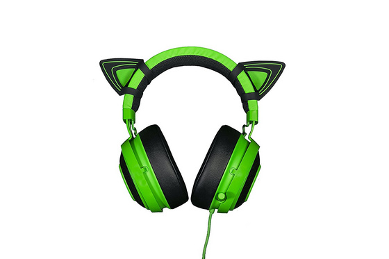 Kitty Ears for Razer Kraken headsets Green