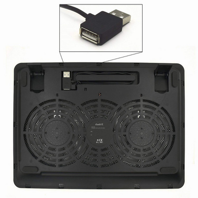 "Stand Laptop cooling pad 17"", 2x silent fan, Ewent EW1256"