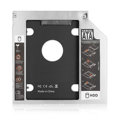 Adapter SSD/HDD to 9,5mm DVD slot, SATA3, Alu, Ewent EW7003