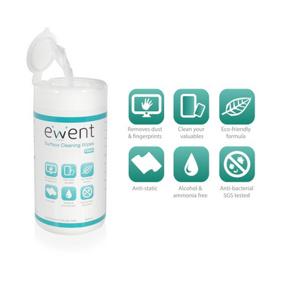 Cleaning Universal wet cleaning wipes 100pcs, Ewent