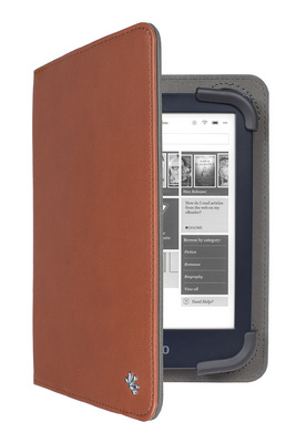 "Cover Gecko Universal Stand, for 6"" ereaders, brown"