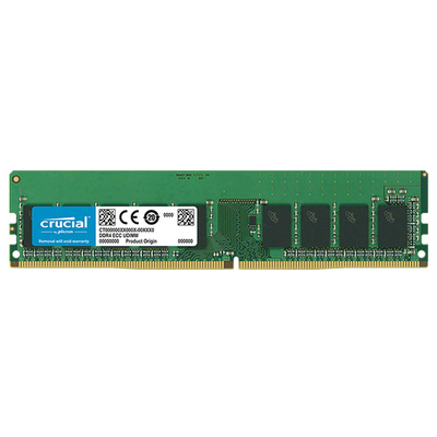 RAM DDR4 16GB PC4-21300 2666MT/s CL19 ECC DR x8 1.2V Crucial