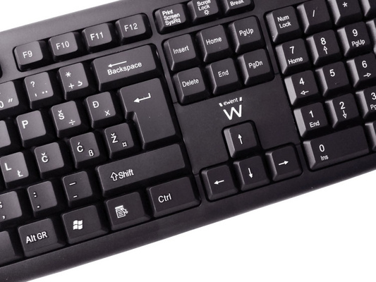 Keyboard Ewent Standard, black, USB, SLO
