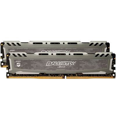 RAM DDR4 32GB Kit (2x 16) PC4-25600 3200MT/s CL16 SR x8 1.35V Crucial BX Sport LT