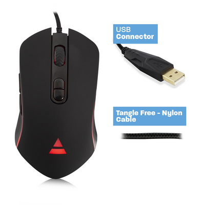 Mouse Ewent PLAY RGB Gaming, 4800 dpi, USB