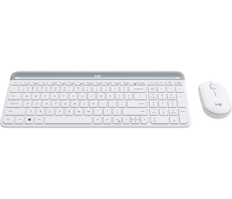 Keyboard & Mouse Logitech Slim Wireless Combo MK470, white, SLO