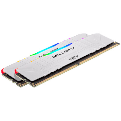 RAM DDR4 32GB Kit (2x16) PC4-28800 3600MT/s CL16 1.35V Crucial BX White RGB