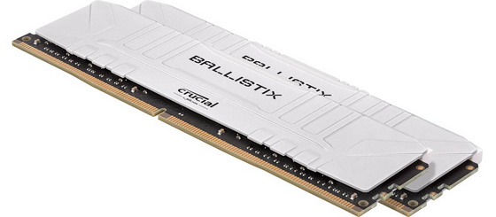 RAM DDR4 16GB Kit (2x8) PC4-25600 3200MT/s CL16 1.35V Crucial Ballistix White