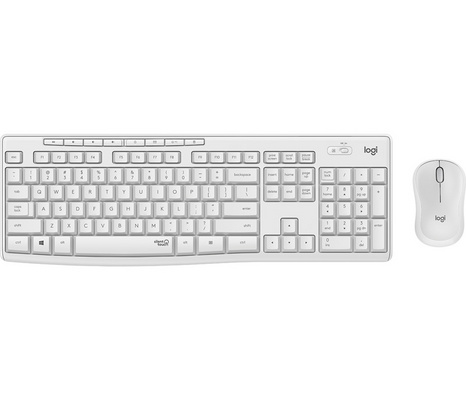 Key. & Mou. Logitech Wireless Combo MK295, White, SLO g.