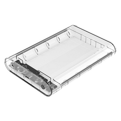 "Case ext. 3,5"" USB-C 3.0 UASP to SATA3, transparent, ORICO 3139C3"