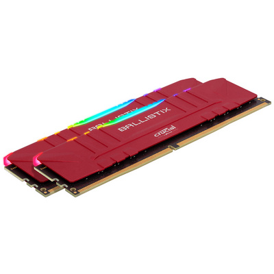 RAM DDR4 32GB Kit (2x16) PC4-25600 3200MT/s CL16 1.35V Crucial BX Red RGB