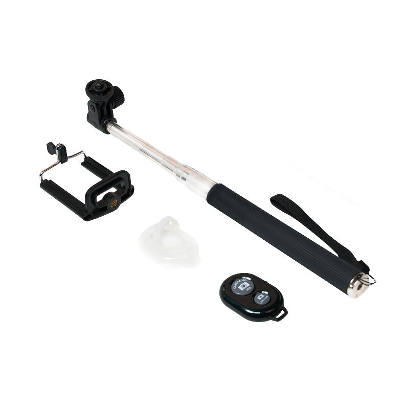 selfie stick bluetooth trigger 22 cm to 109 cm logilink eventus sistemi. Black Bedroom Furniture Sets. Home Design Ideas