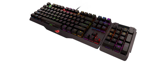 Tipkovnica ASUS Claymore, MX Brown, RGB, USB, US SLO g.