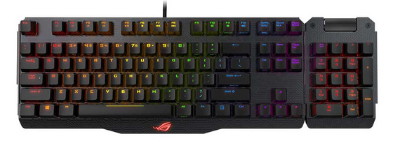 Tipkovnica ASUS Claymore, MX Red, RGB, USB, UK SLO g.