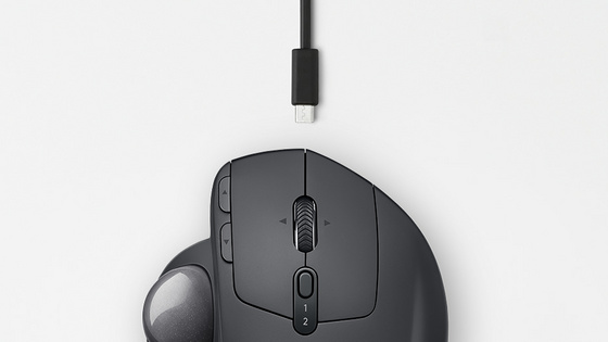 Miška Logitech MX Ergo Wireless Trackball, Bluetooth, polnilna, grafit