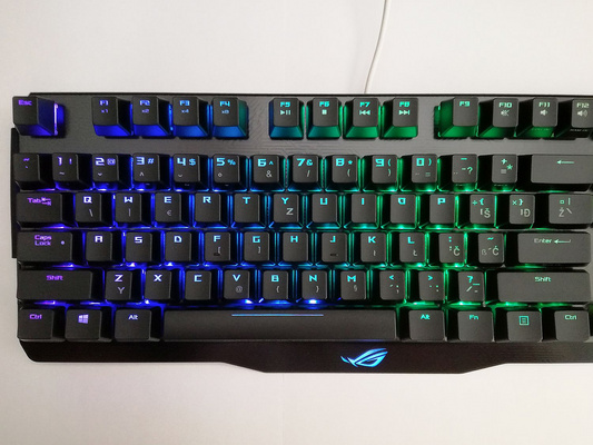 Tipkovnica ASUS Claymore, MX Brown, RGB, USB, UK SLO g.