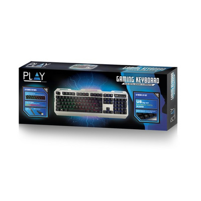 Tipkovnica Ewent PLAY Gaming, RGB, USB, US SLO g.