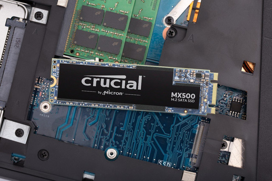 SSD 500GB M.2 80mm 2280 SS SATA3 3D TLC, CRUCIAL MX500