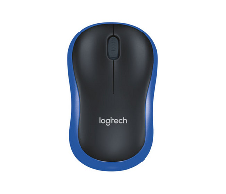 Miška Logitech M185 Wireless, nano, optična, modra