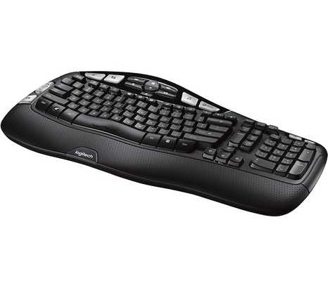 Tipkovnica Logitech Wireless Keyboard K350 Wave, Unifying, SLO g. OEM
