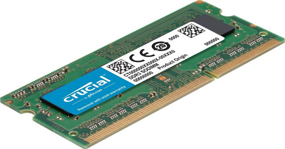 RAM SODIMM DDR3 8GB Kit (2x 4) PC3-10600 1333MHz CL9 Crucial for Mac & PC