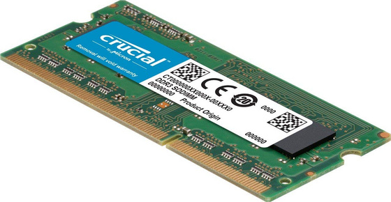 RAM SODIMM DDR3 4GB PC3-10600 1333MHz CL9 Crucial for Mac & PC