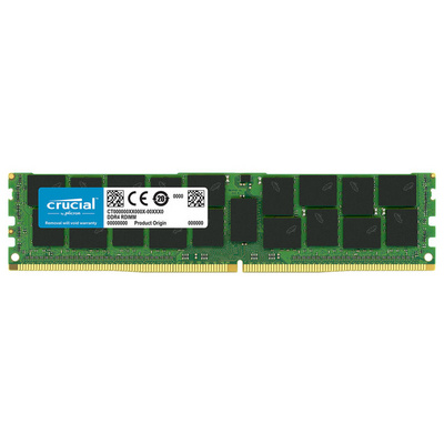 RAM DDR4 64GB PC4-21300 2666MHz CL19 ECC Load reduced Reg QR x4 1.2V Crucial