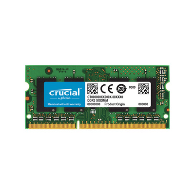 RAM SODIMM DDR3L 4GB PC3-12800 1600MHz CL11 Crucial for Mac & PC