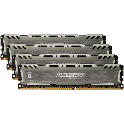 RAM DDR4 64GB Kit (4x16) PC4-25600 3200MT/s CL16 DR x8 Crucial BX Sport LT
