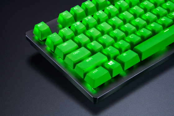 Komplet tipk PBT Keycap Upgrade Set - Razer Green