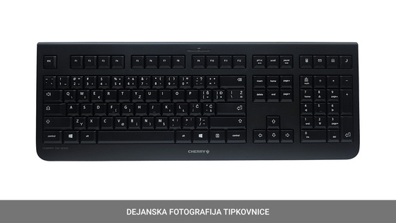Tipkovnica in miška Cherry DW 3000 Wireless, črna, USB, US SLO g.