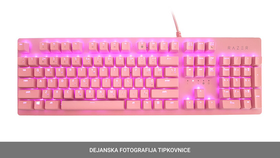 Tipkovnica Razer Huntsman, Opto-Mechanical Switch Quartz, US SLO g.