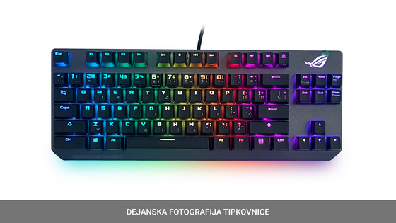 Tipkovnica ASUS ROG Strix Scope TKL Deluxe, MX-Red, RGB, USB, US SLO g.