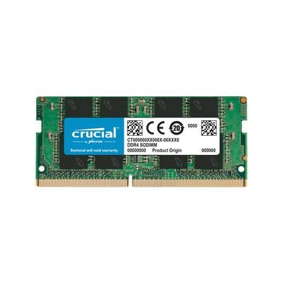 RAM SODIMM DDR4 16GB PC4-25600 3200MT/s CL22 SR x8 1.2V Crucial
