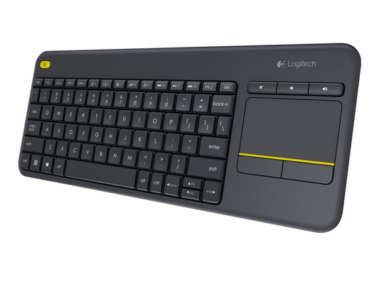 Tipkovnica K400 PLUS Wireless Touch, Logitech, Unifying, črna, SLO