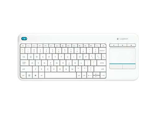 Tipkovnica K400 PLUS Wireless Touch, Logitech, Unifying, bela, SLO g.