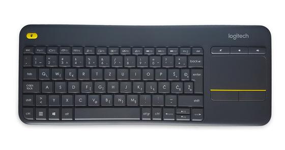 Keyboard K400 PLUS Wireless Touch, Logitech, Unifying, black, SLO